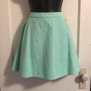 Sea foam Green American Apparel Skirt